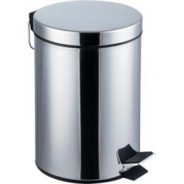 Cos de gunoi inox 7 litri, cu pedala, inoxidabil