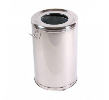 Cos gunoi inox cu roti si galeata metalica 65 litri, inoxidabil
