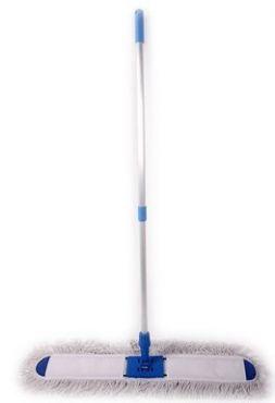 Mop plat complet 40 cm, bumbac, maner metalic telescopic, bumbac