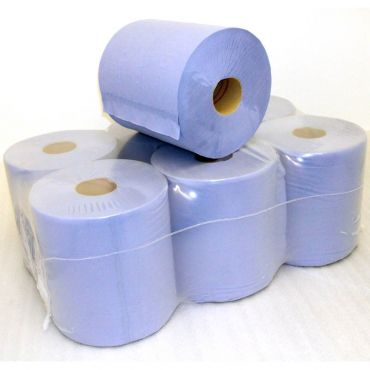 Rola prosop derulare centrala 2 straturi albastra