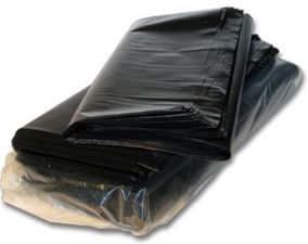Saci menajeri 240 litri, negri, 10 buc/pachet, 110 x 125 cm, LDPE